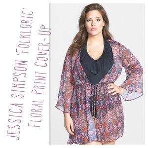 Jessica Simpson Other - JESSICA SIMPSON 'Folkloric' Floral Print Cover-Up