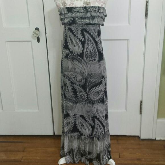 Eyelash couture maxi dress