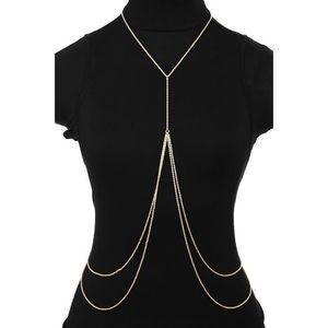 Jewelry - NWT MULTI LAYER GOLD BODY CHAIN HARNESS