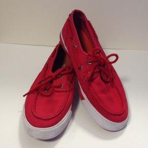 Nautica Shoes - Nautica deck shoes red 7 1/2