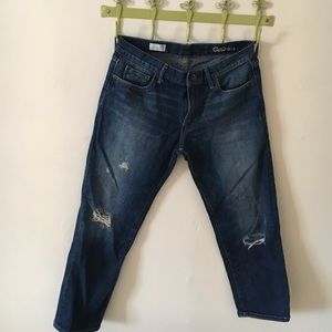 Gap sexy boyfriend distressed jeans