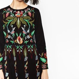 72279d92 Zara Dresses | Limited Edition Floral Embroidered Dress | Poshmark
