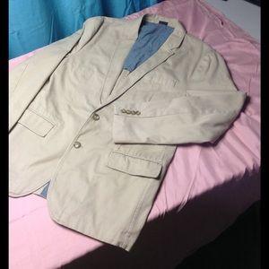 JCrew Casual Blazer Large Tan 2 Button