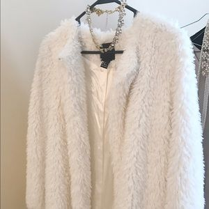 Forever 21 Faux Fur Coat, Brand New Condition.
