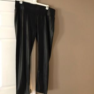 Fashion to Figure Pants - Plus size high waisted faux leather leggings