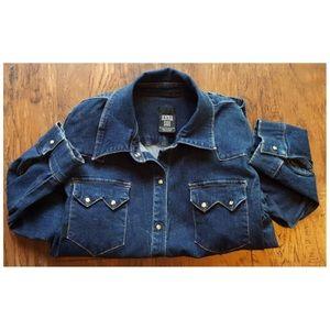 Anna Sui Jackets & Blazers - Anna Sui Anthropologie Denim Jacket Button Up