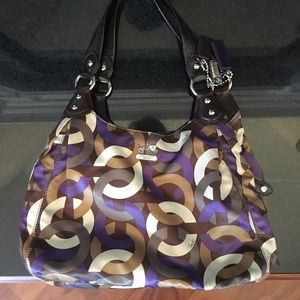 Coach Handbags - Authentic Coach scarf print hobo purse