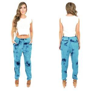 Style Link Miami Pants - ▫️LAST 1▫️TURQUOISE TIE DYE HAREM PANTS