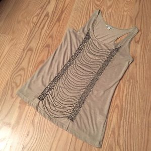 CHARLOTTE RUSSE chain racer back tank top