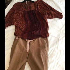 LOFT Pants - Loft, barely used cute rolled crops⚡️FLASH SALE⚡️