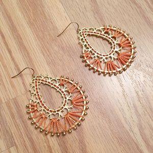 Jewelry - NWOT Woven dangle earrings