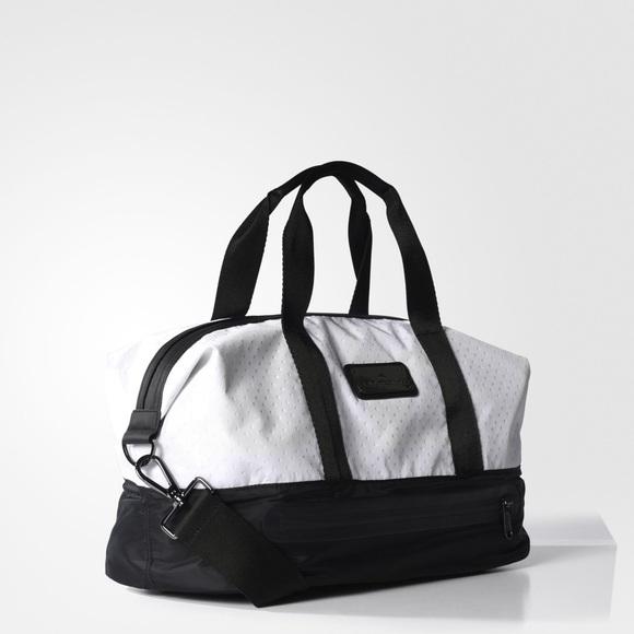 1840d9f26368 Adidas by Stella McCartney Black   White Gym Bag