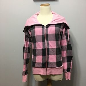 Divided by H&M Tops - Plaid Zip Up Sweatshirt