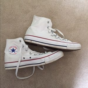 Converse Shoes - white high top converse size 7