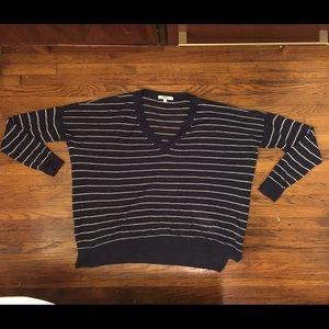 Madewell navy striped shirt small