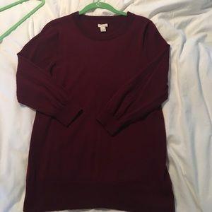 Maroon JCrew Sweater