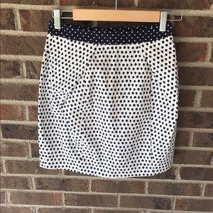 Zara Dresses & Skirts - Zara Navy Mixed Print White and Blue Skirt