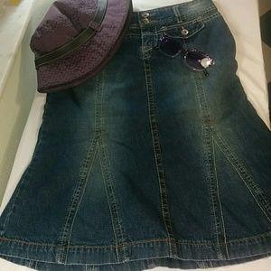 UNIONBAY Dresses & Skirts - Unionbay long jean skirt size 3 Juniors