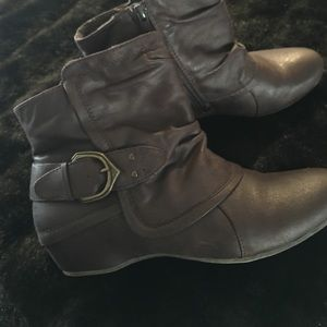 Shoes - Brown Boots, Worn Once!