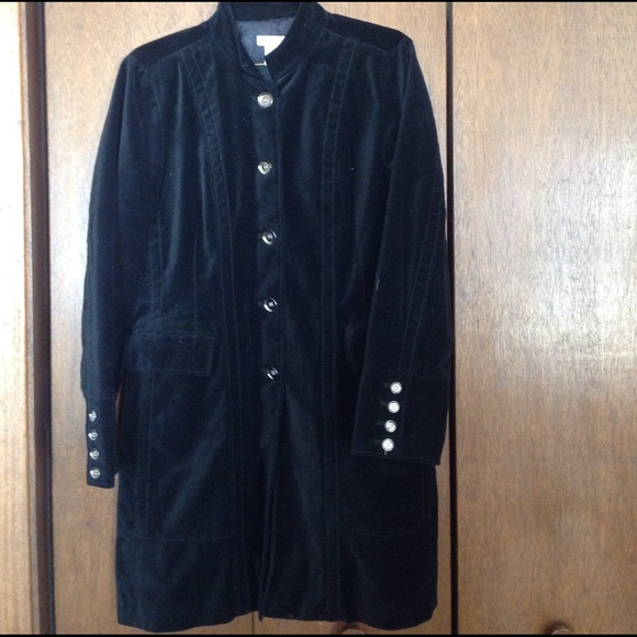 fashionablestyle browse latest collections quality and quantity assured Chico's black velvet trench coat