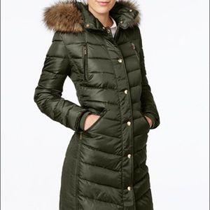 Michael Kors Faux-Fur Trim Hooded Puffer Coat