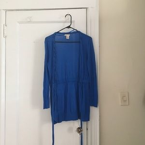 DKNY Blue Cardigan Sweater