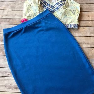 a'gaci Dresses & Skirts - Sexy Blue Pencil Skirt!!!
