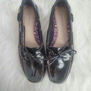 Sperry Top-Sider Shoes - Sperry Patent Leather Lace Loafers 7M