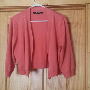 89th & MADISON Sweaters - Mauve Shrug Sweater