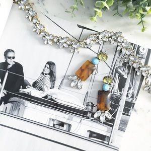 "Erica Rose Jewelry - ""Marta"" Earrings || Amber & Crystal Statement"