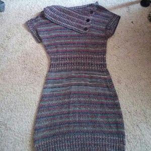 Cute Striped Sweater Dress