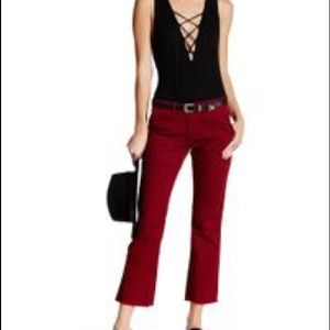 Sanctuary Denim - SANCTUARY frayed peace crop pants in bohemian red