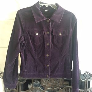 Deep Purple Corduroy Jean Jacket Lg.
