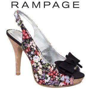 Rampage Shoes - 🌺 NWOB Floral Print Slingback Pumps