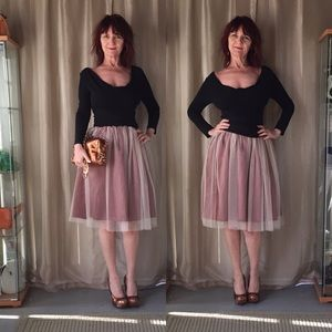 Dresses & Skirts - NWT IVORY TULLE SKIRT WITH COPPER LINING