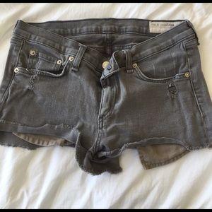 Rag and bone jean shorts in gray