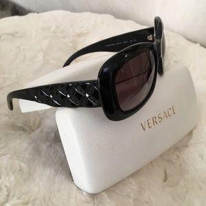 Versace black sunglasses with rhinestones