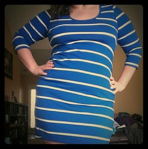 BumpStart Dresses & Skirts - Royal Blue striped Maternity dress