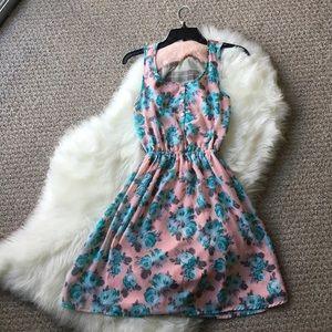 Floral Mini Dress - Size Medium