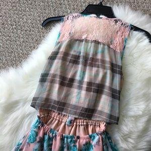 Dresses - Floral Mini Dress - Size Medium