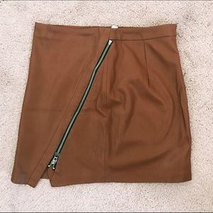 ZARA faux leather mini skirt