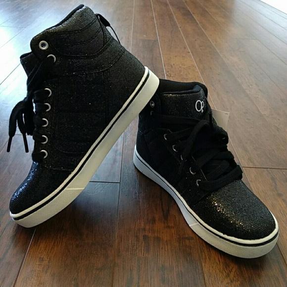 OP Shoes   Nwt Op Black Sparkle High