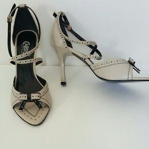 Carlos Santana Shoes - Carlos by Carlos Santana beige leather sandals 9.5