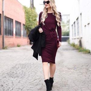 Topshop Dresses & Skirts - NWT: Topshop Knot Front Midi Dress, sz 4