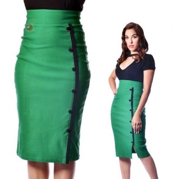 b26bf12688 Rock Steady Skirts   Clothing High Waisted Pencil Skirt   Poshmark