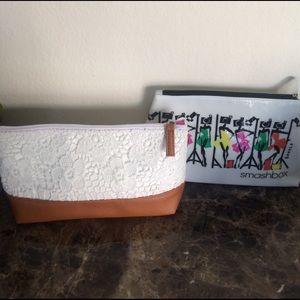 Smashbox makeup bag and lace makeup bag