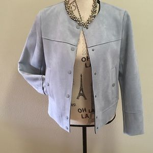 Zara Light blue Suede jacket.