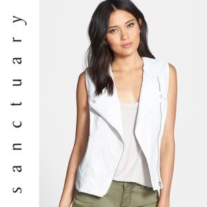 Sanctuary Jackets & Blazers - Sanctuary Vegan Leather Moto Vest