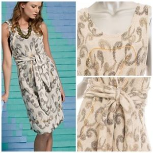 Anthropologie Quills Ivory Sweater Dress
