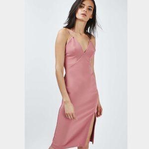 Topshop Dresses & Skirts - NWT: Topshop Eyelet Plunge Midi Dress, sz 4